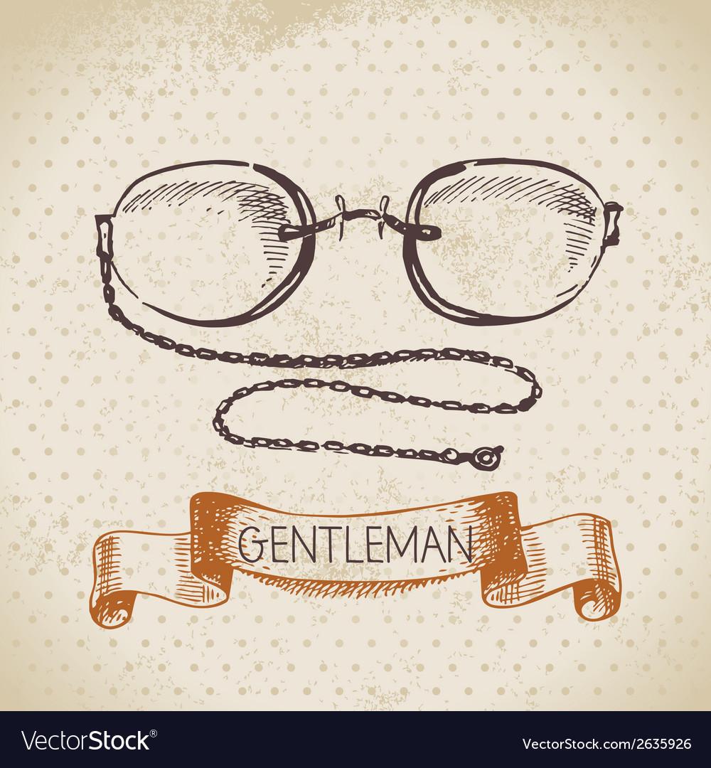 Sketch gentlemen accessory vector | Price: 1 Credit (USD $1)