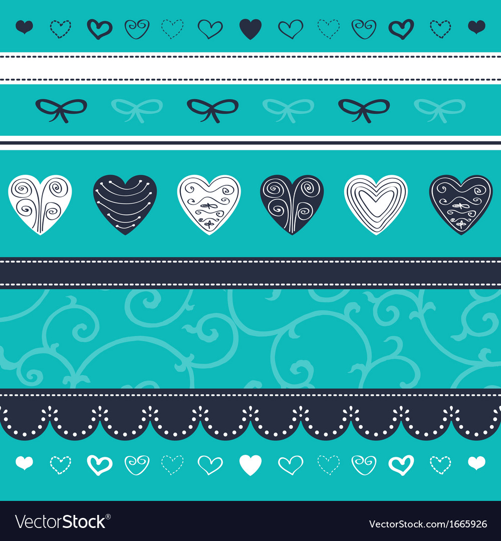 Turquoise floral ornament vector | Price: 1 Credit (USD $1)