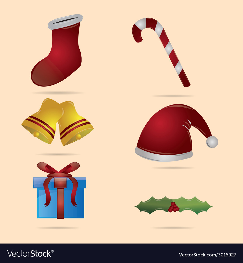 A group of different elements for this christmas vector | Price: 1 Credit (USD $1)
