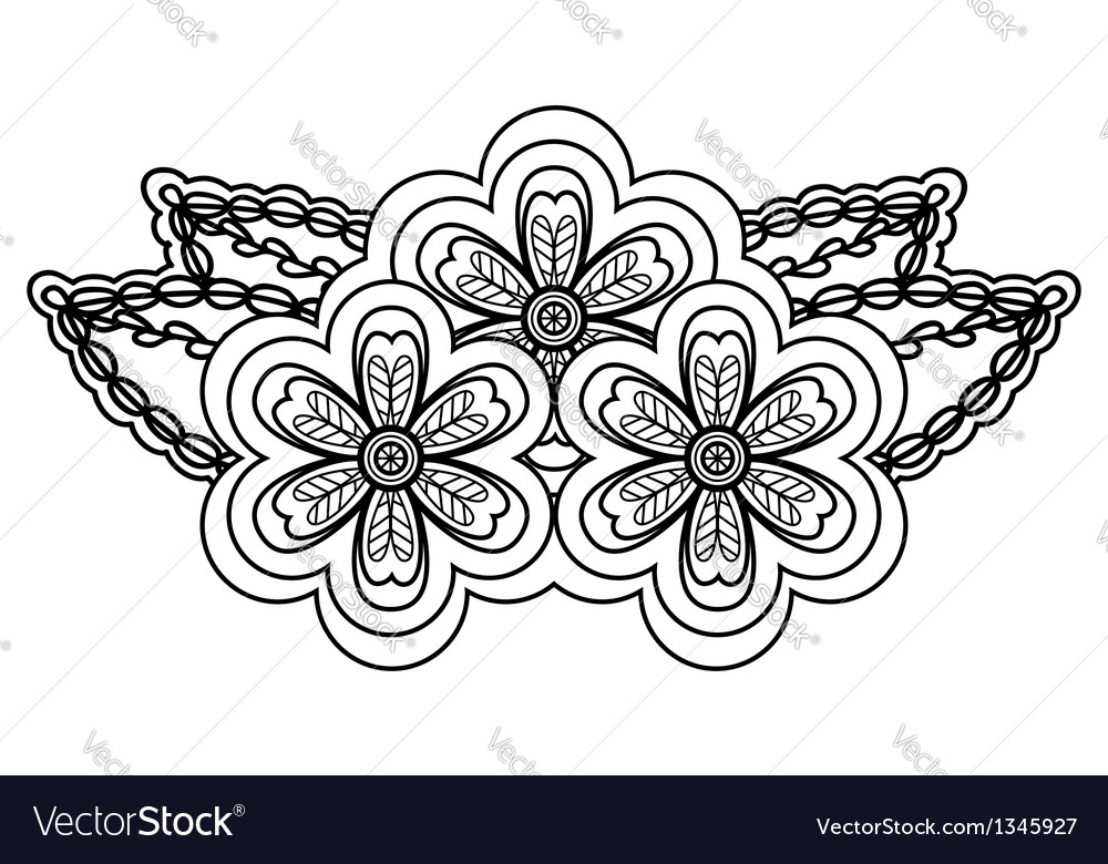 Abstract black and white floral arrangement vector | Price: 1 Credit (USD $1)
