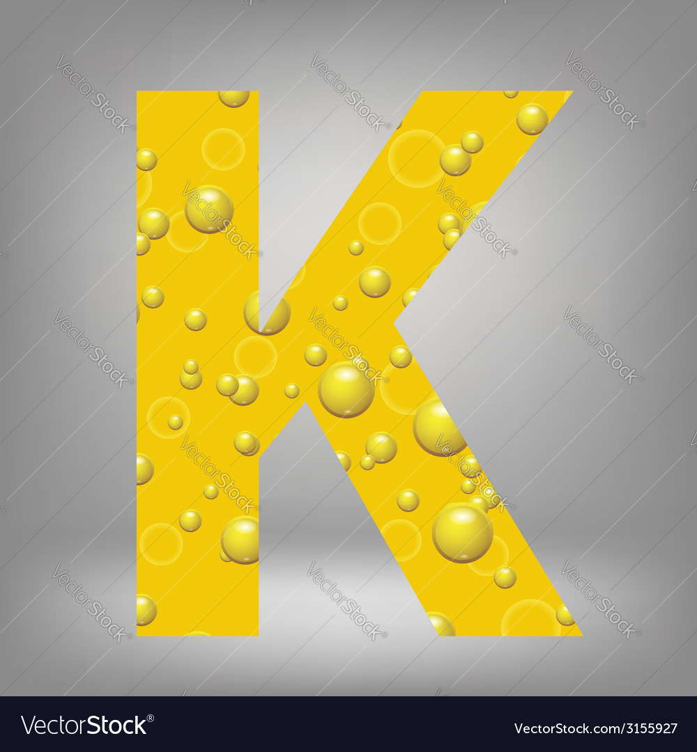Beer letter k vector | Price: 1 Credit (USD $1)