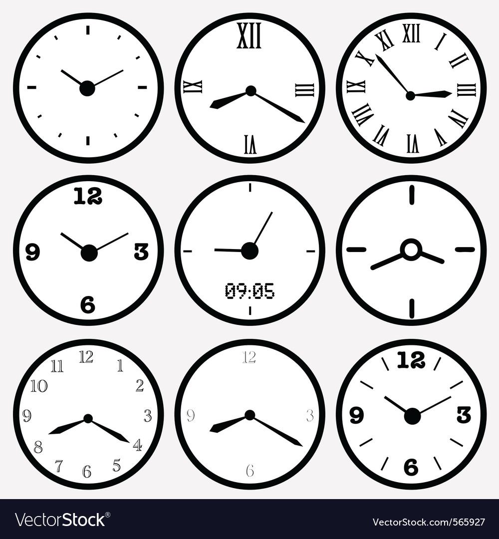 Clocks vector | Price: 1 Credit (USD $1)