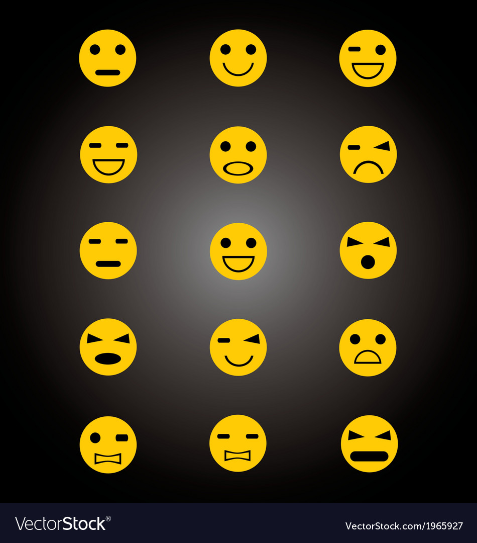 Emoticon set vector | Price: 1 Credit (USD $1)