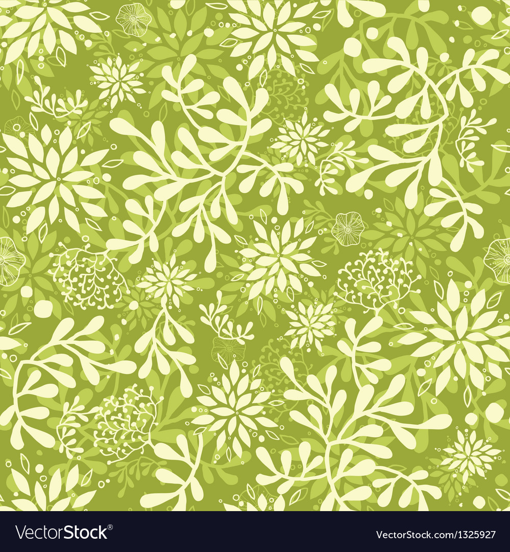 Green underwater plants seamless pattern vector | Price: 1 Credit (USD $1)