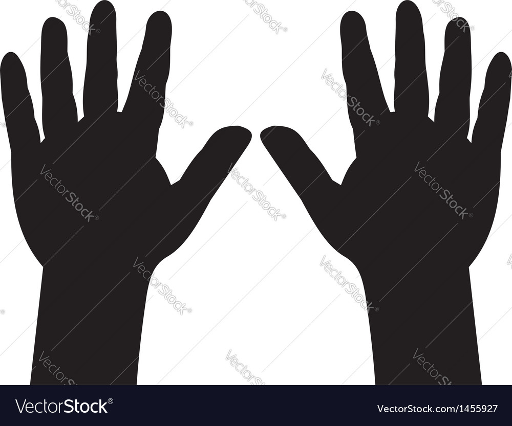 Hands with five fingers spread vector | Price: 1 Credit (USD $1)