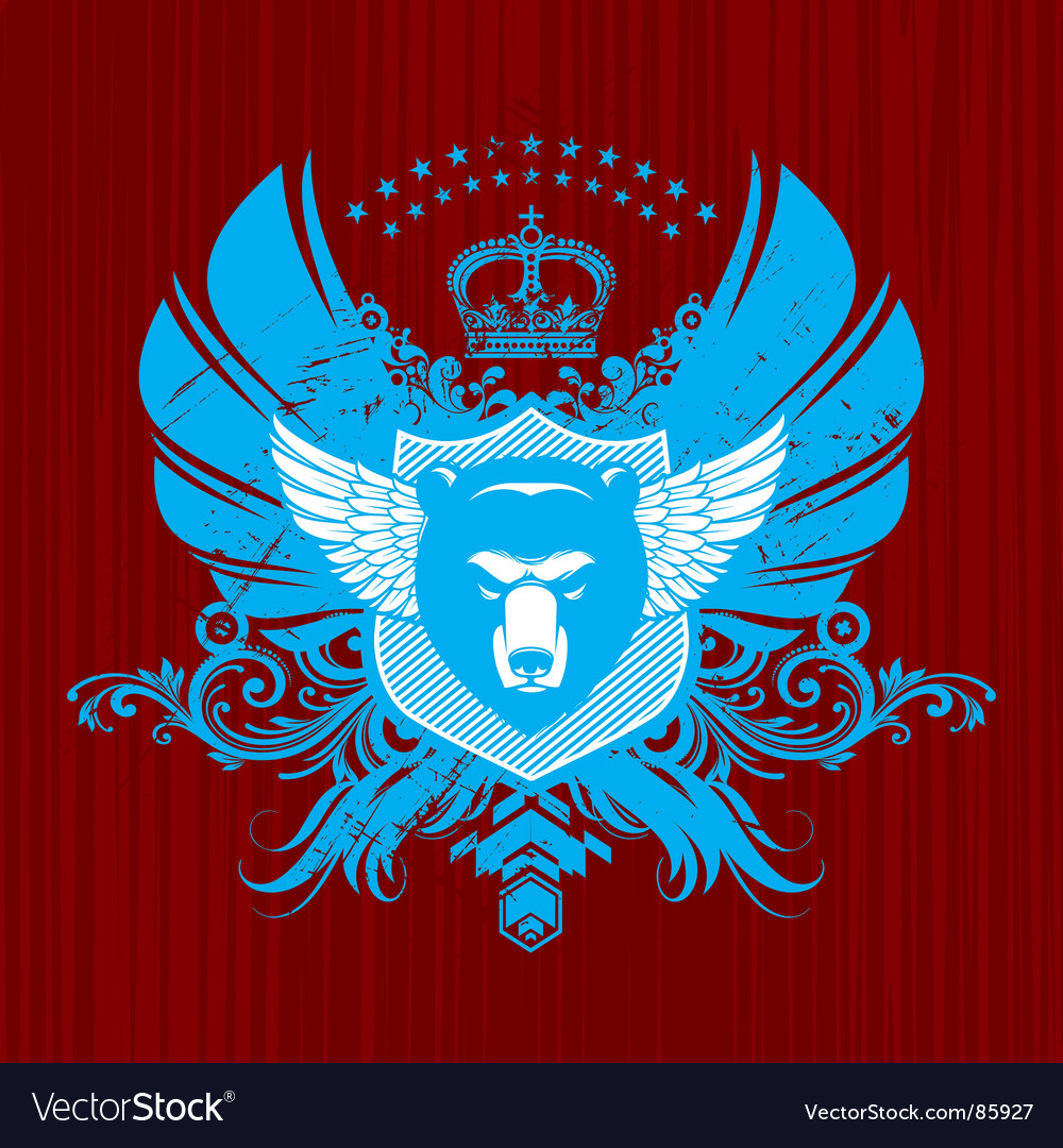 Heraldry with bear head vector | Price: 1 Credit (USD $1)