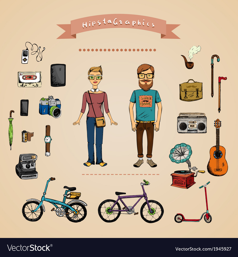 Hipster infographic concept vector | Price: 1 Credit (USD $1)