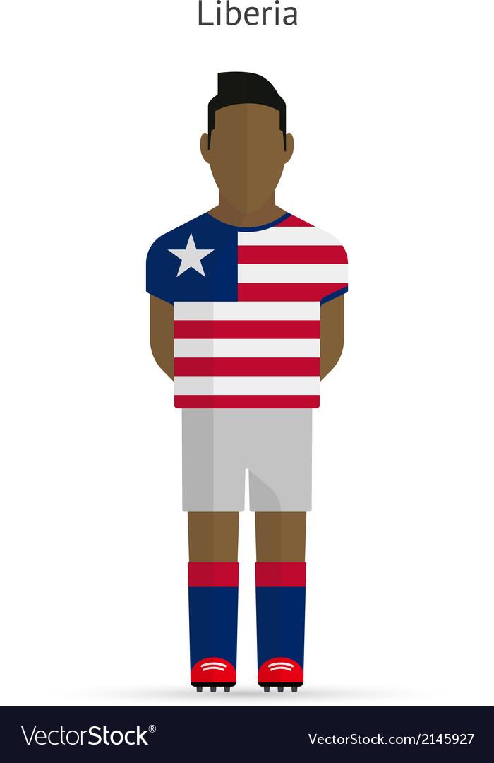 Liberia football player soccer uniform vector | Price: 1 Credit (USD $1)