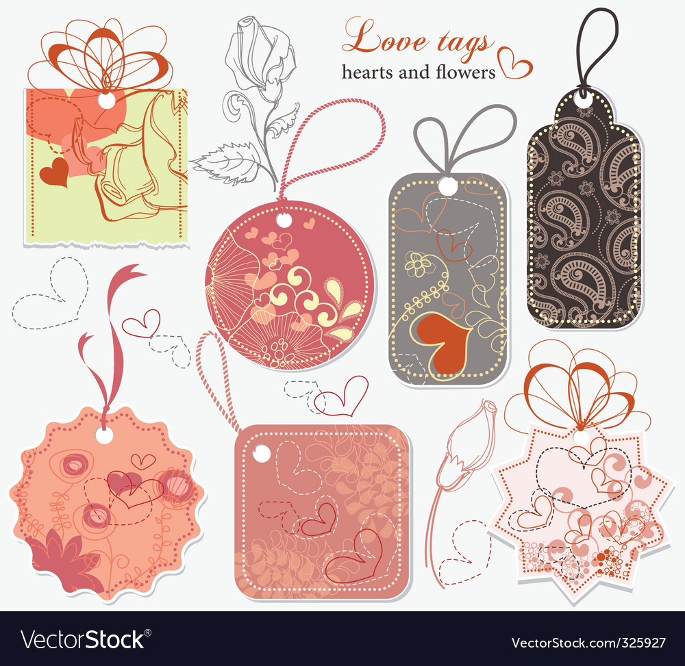 Love tags vector | Price: 1 Credit (USD $1)