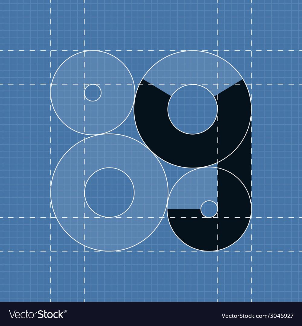 Round engineering font symbol y vector | Price: 1 Credit (USD $1)