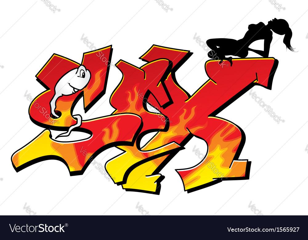Sexy graffiti vector   Price: 1 Credit (USD $1)