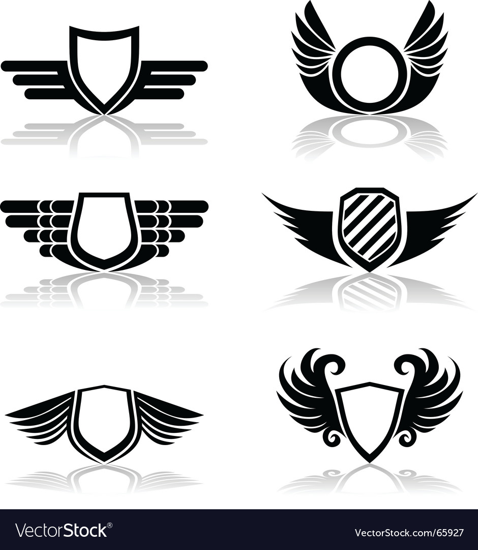 Shields symbols vector | Price: 1 Credit (USD $1)