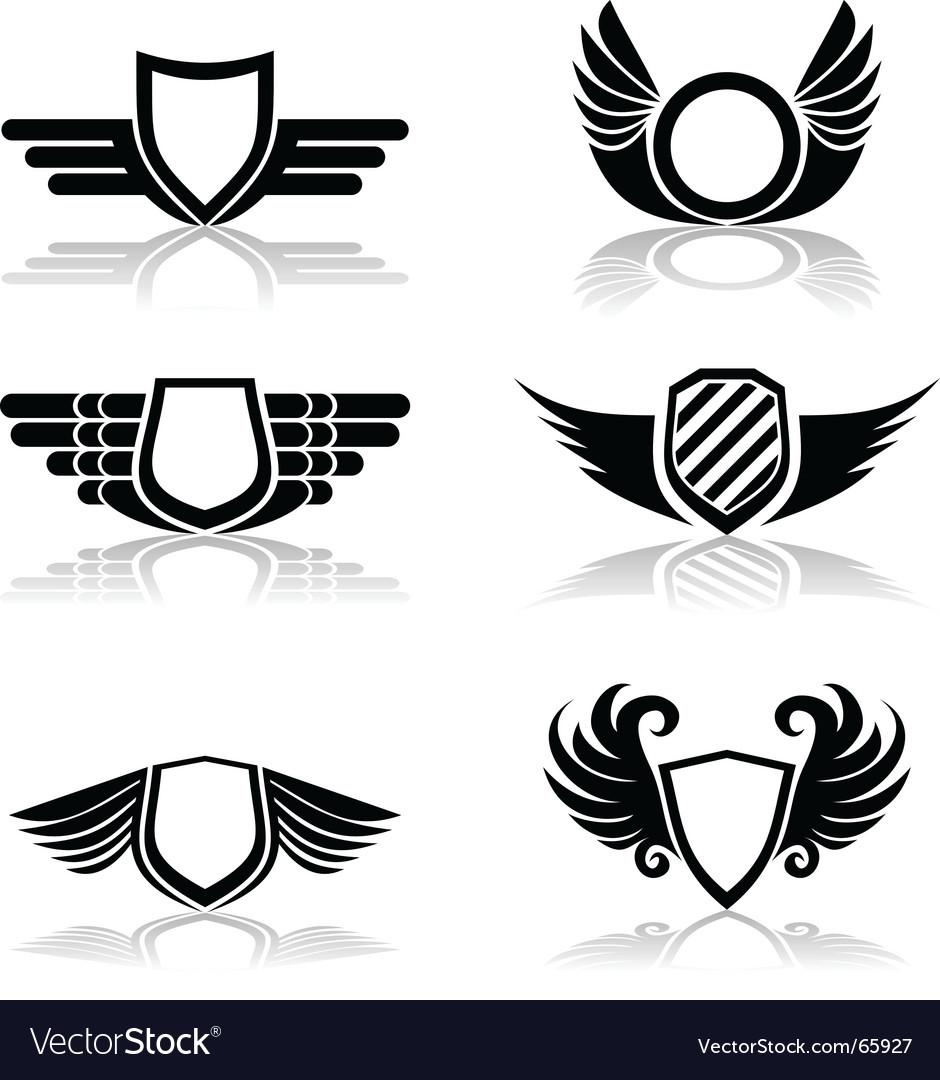 Shields symbols vector | Price: 1 Credit (USD $1)