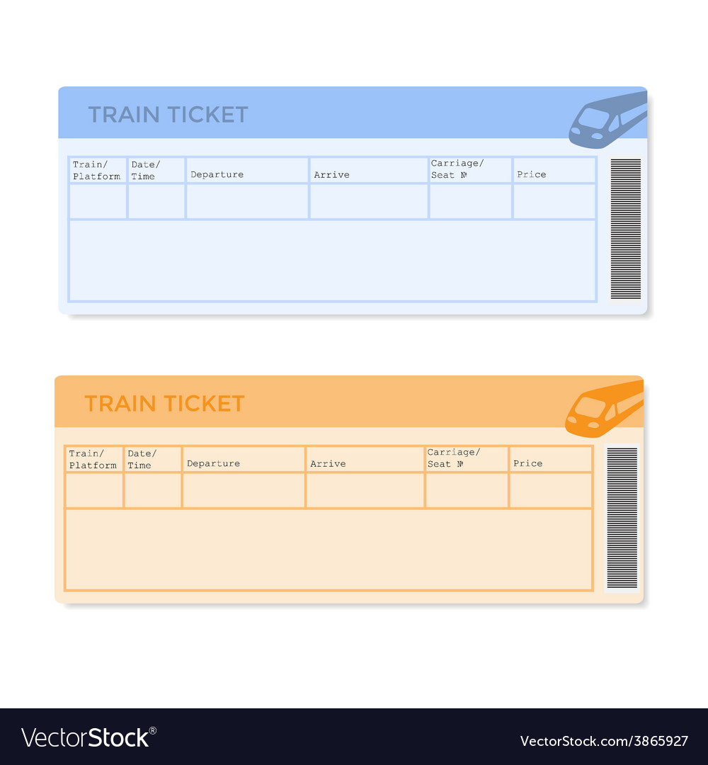 Train tickets in two versions vector | Price: 1 Credit (USD $1)