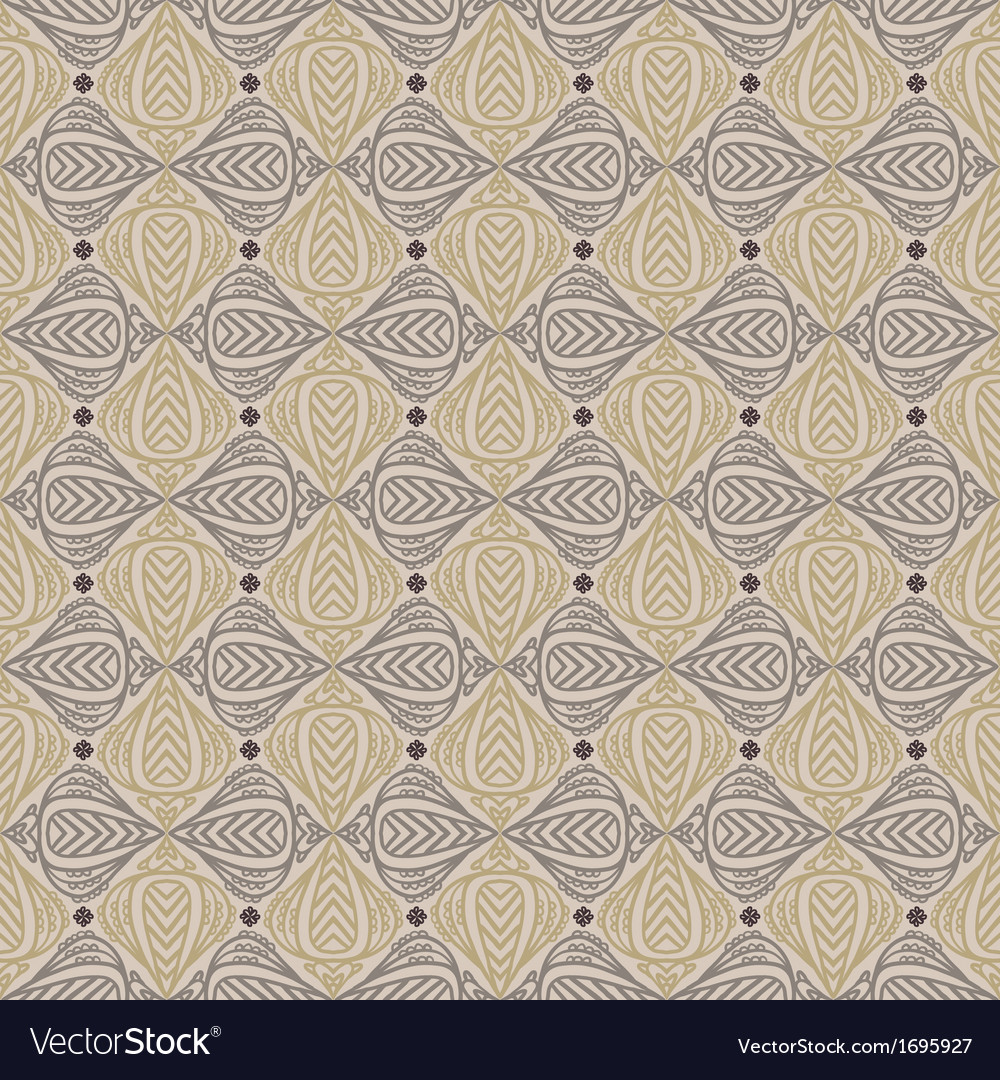 Vintage pattern in sepia color vector | Price: 1 Credit (USD $1)
