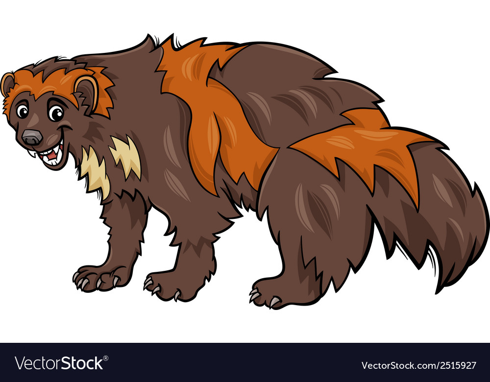 Wolverine animal cartoon vector | Price: 1 Credit (USD $1)