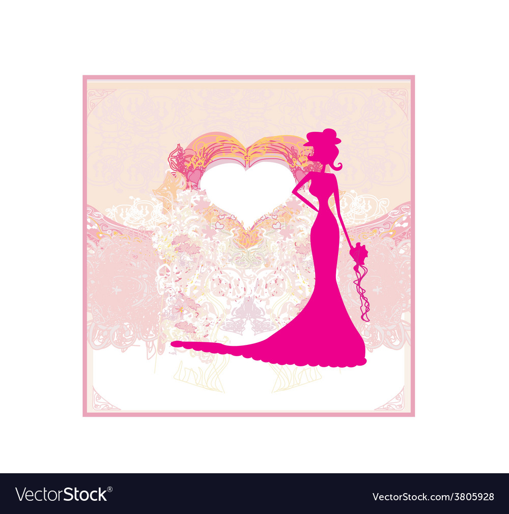Abstract beautiful floral bride card vector   Price: 1 Credit (USD $1)