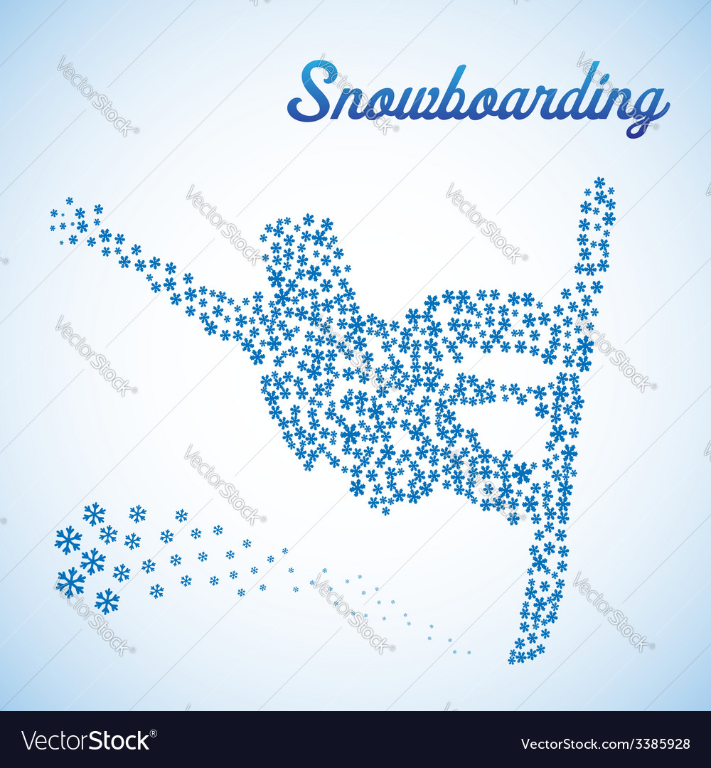 Abstract snowboarder in jump vector | Price: 1 Credit (USD $1)