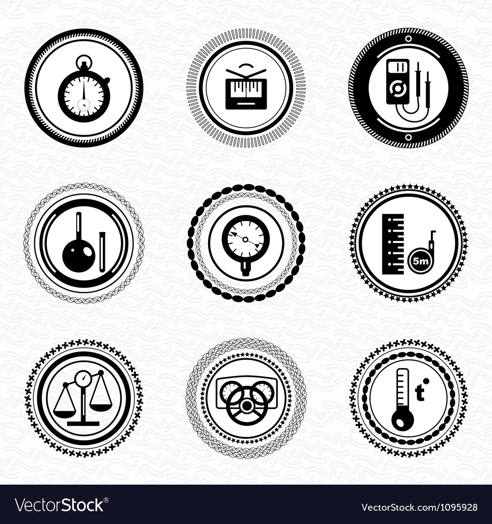 Black retro labels and badges business statistic vector | Price: 1 Credit (USD $1)