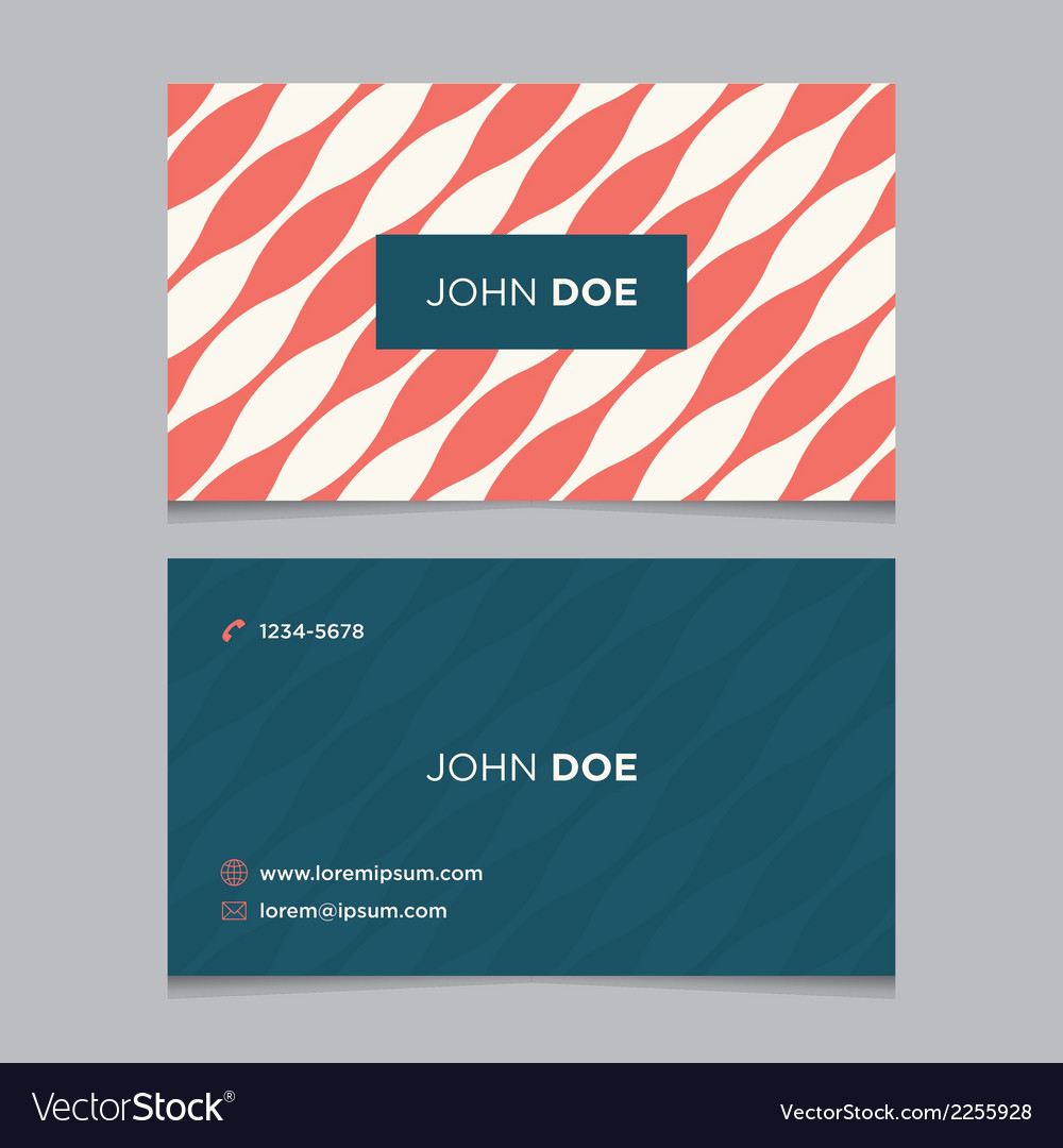 Business card pattern red 09 vector | Price: 1 Credit (USD $1)