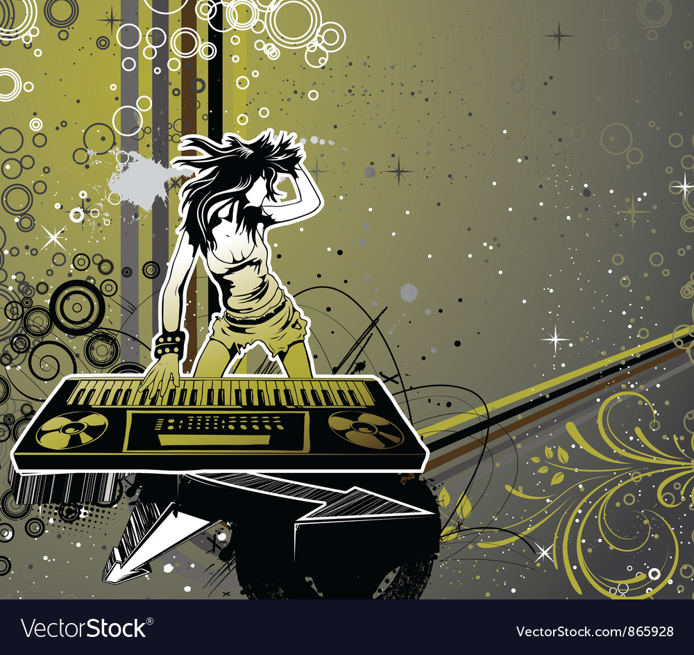 Girl with organ vector   Price: 1 Credit (USD $1)