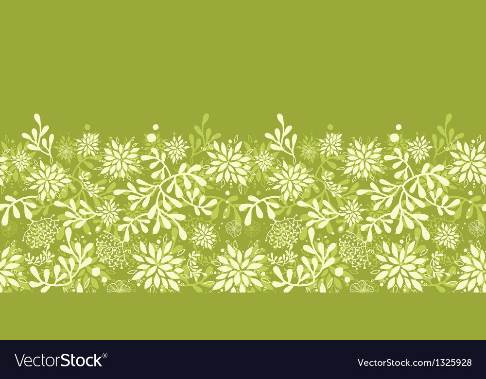 Green underwater plants horizontal seamless vector | Price: 1 Credit (USD $1)
