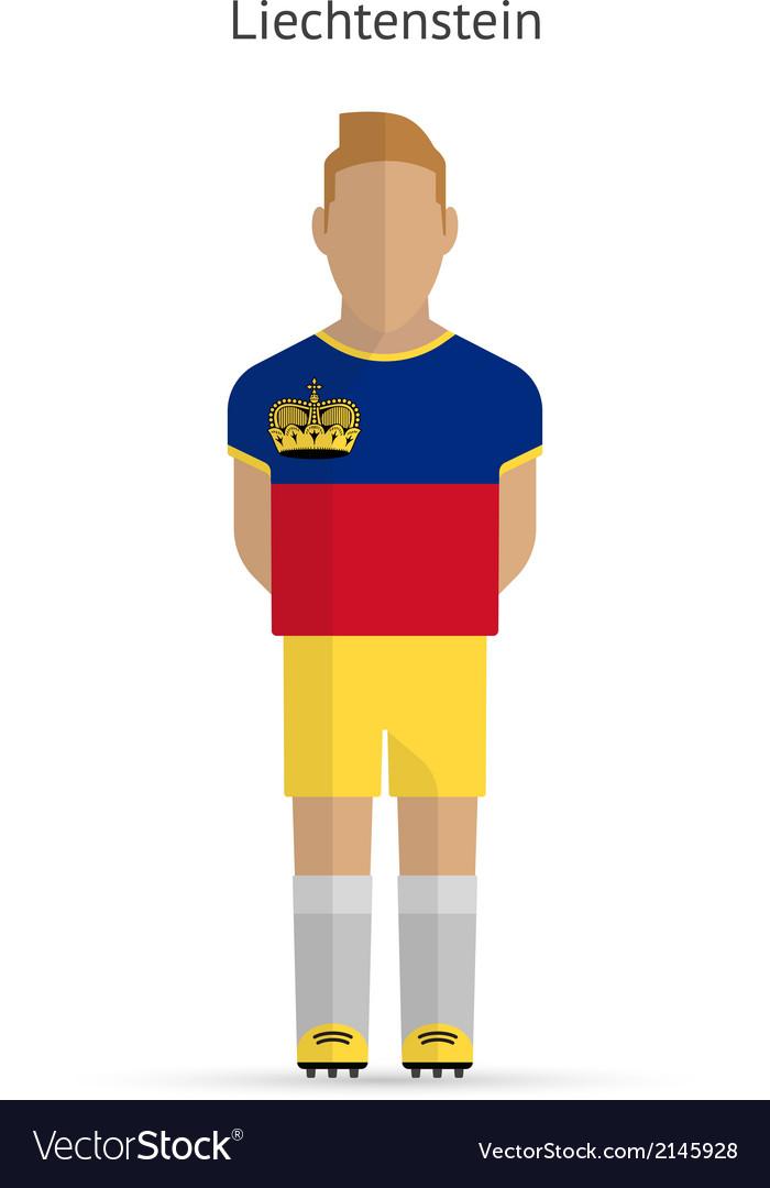 Liechtenstein football player soccer uniform vector | Price: 1 Credit (USD $1)