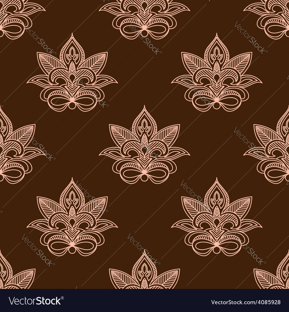Light and dark brown persian paisley seamless vector | Price: 1 Credit (USD $1)