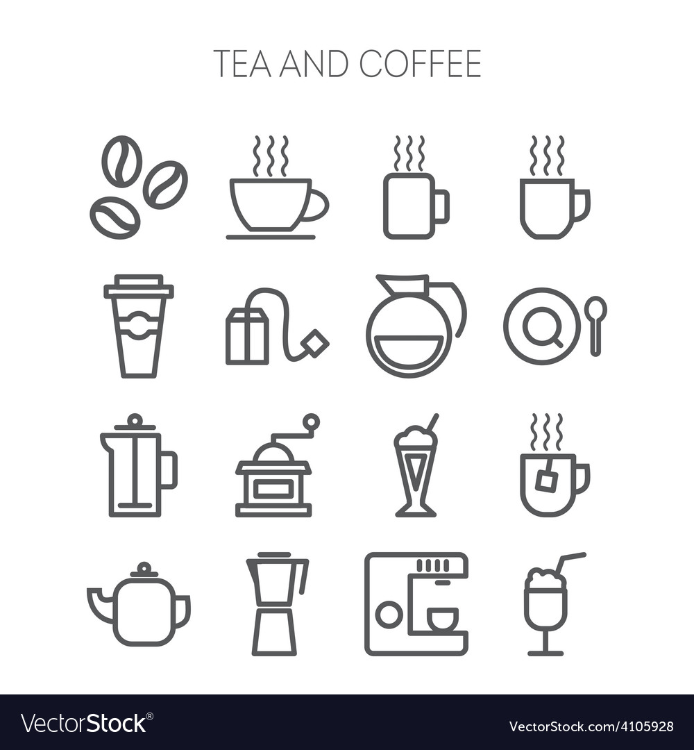 Set of simple icons for restaurant cafe coffee vector | Price: 1 Credit (USD $1)