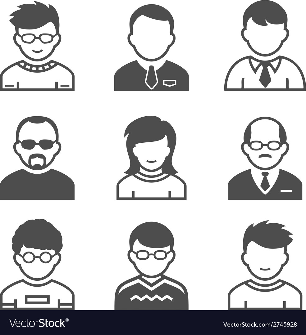 Users icons vector | Price: 1 Credit (USD $1)