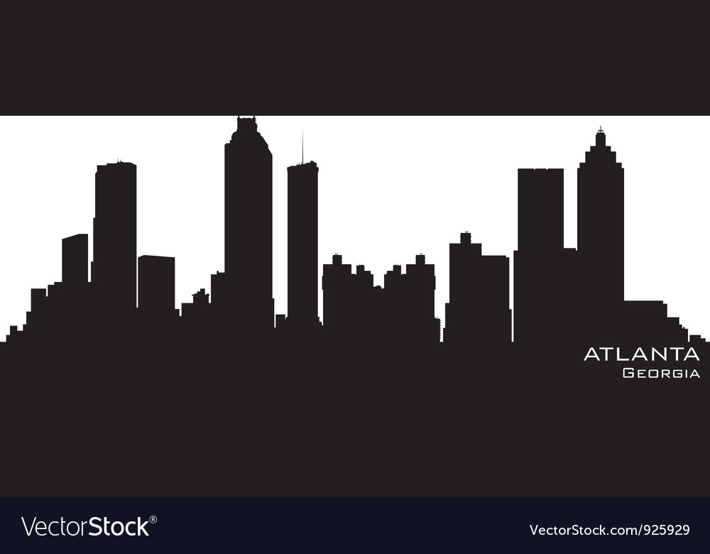 Atlanta georgia skyline vector | Price: 1 Credit (USD $1)