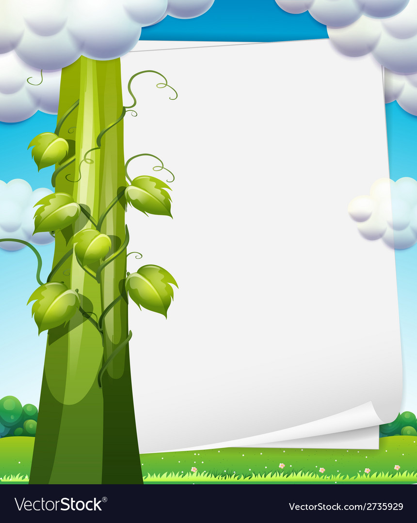 Banner with beanstalk vector | Price: 1 Credit (USD $1)
