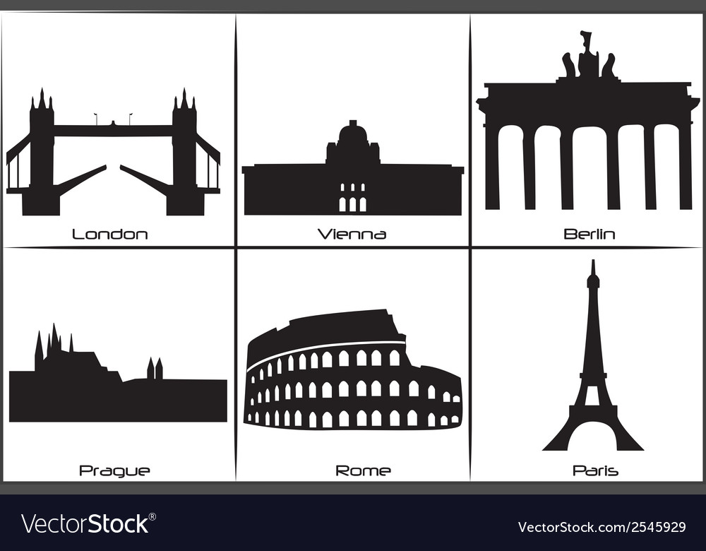 European landmarks vector | Price: 1 Credit (USD $1)