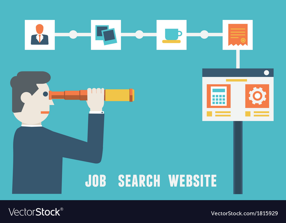 Flat concept of job search website vector | Price: 1 Credit (USD $1)