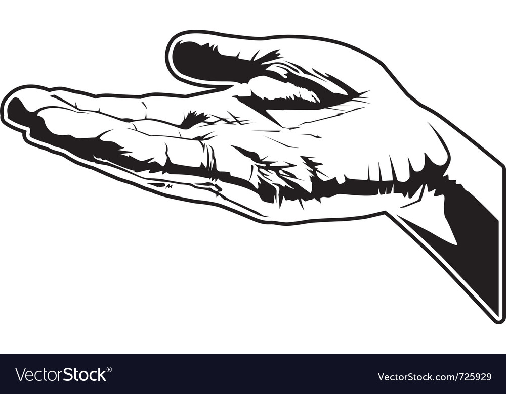 Open hand vector | Price: 1 Credit (USD $1)