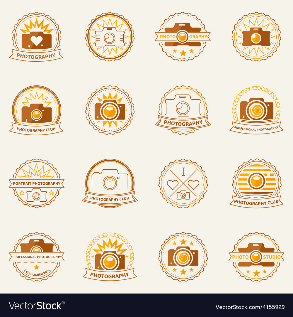 Photography labels and badges vector | Price: 1 Credit (USD $1)