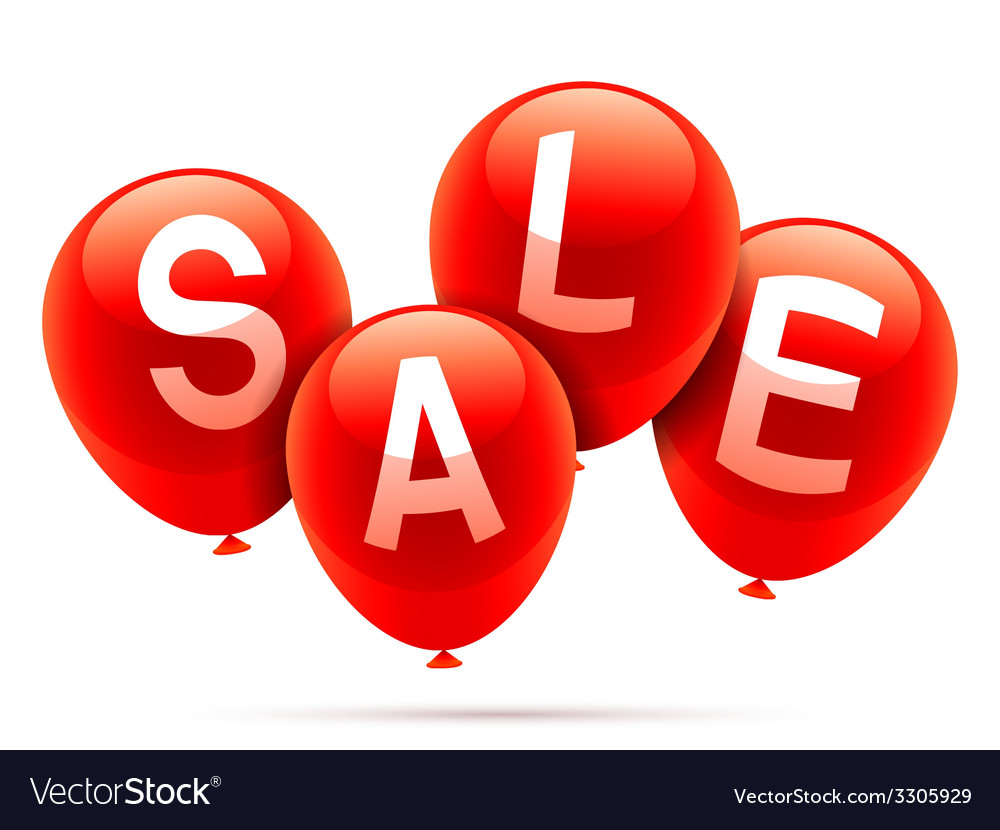 Sale balloons vector | Price: 1 Credit (USD $1)