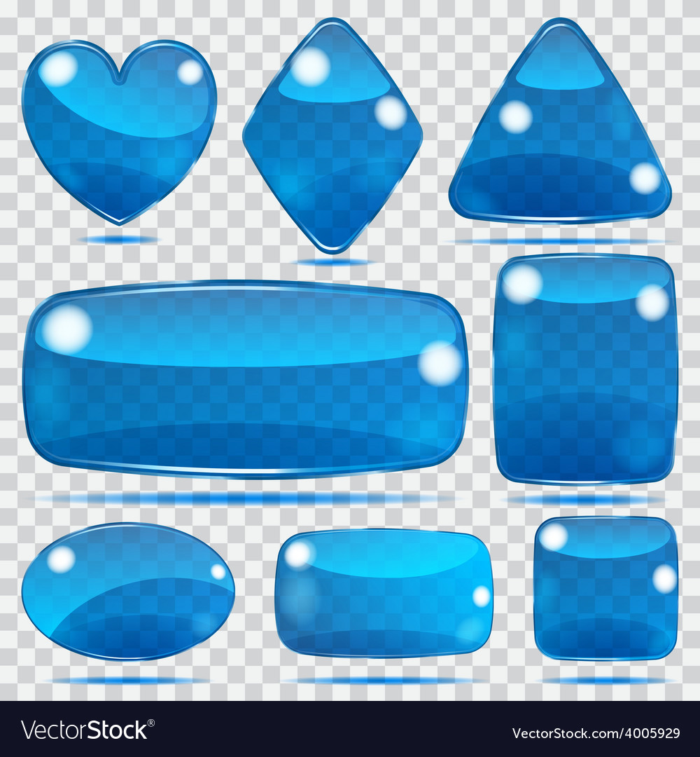 Set of transparent glass shapes vector | Price: 1 Credit (USD $1)