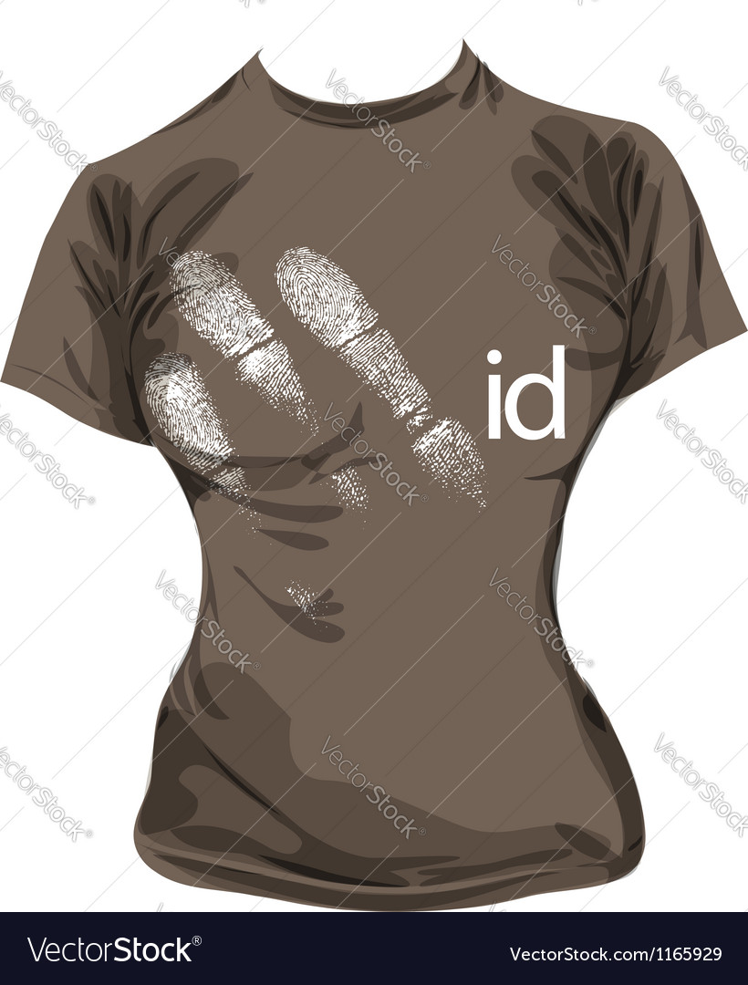 Sketch of id tee vector | Price: 1 Credit (USD $1)