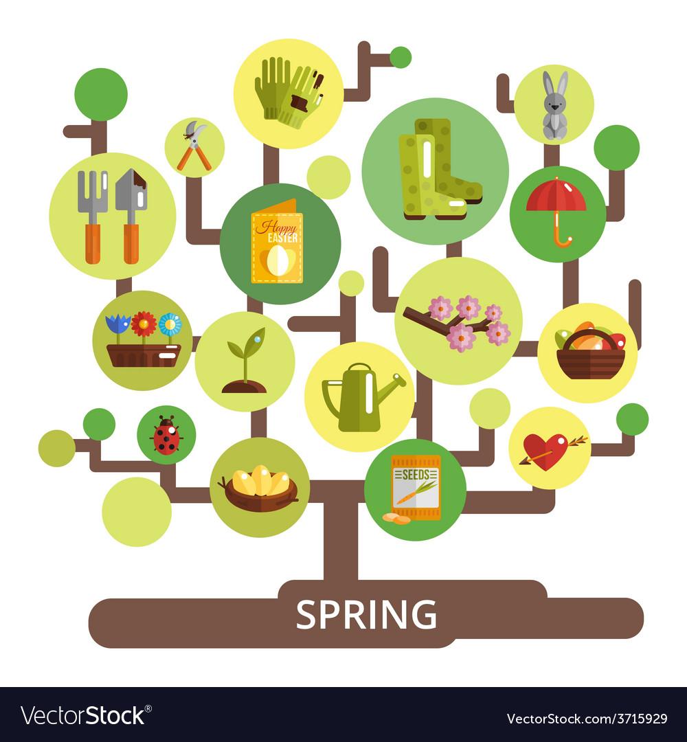 Spring season concept vector | Price: 1 Credit (USD $1)