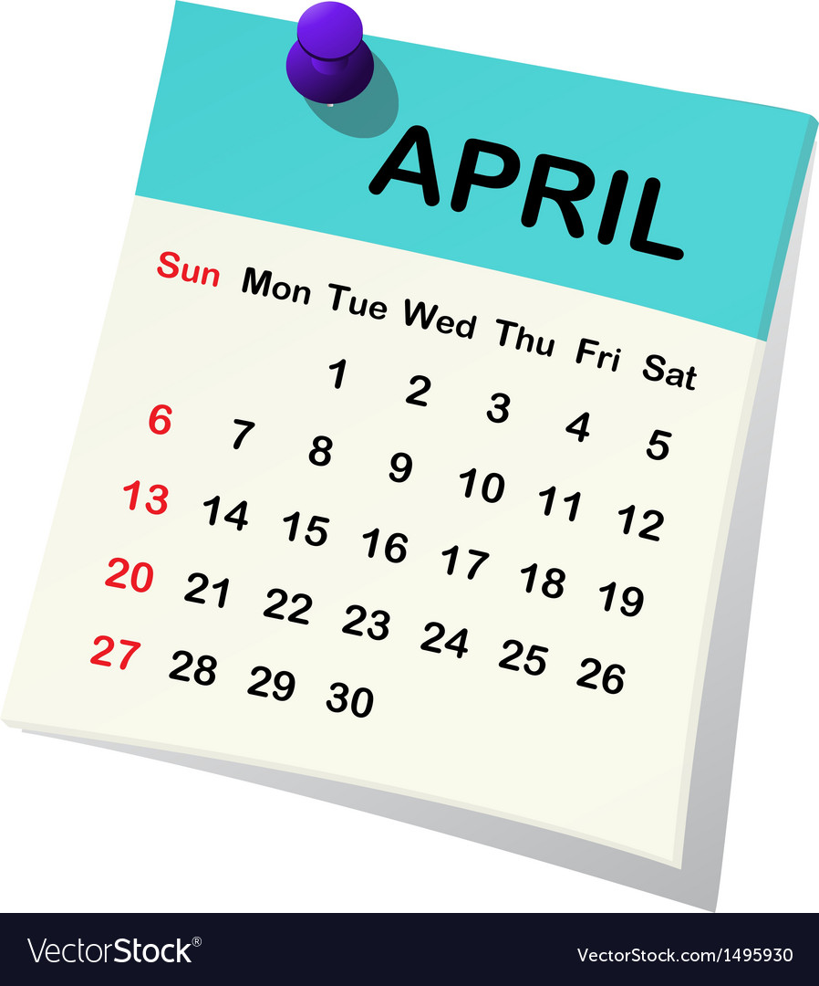 2014 calendar for april vector | Price: 1 Credit (USD $1)