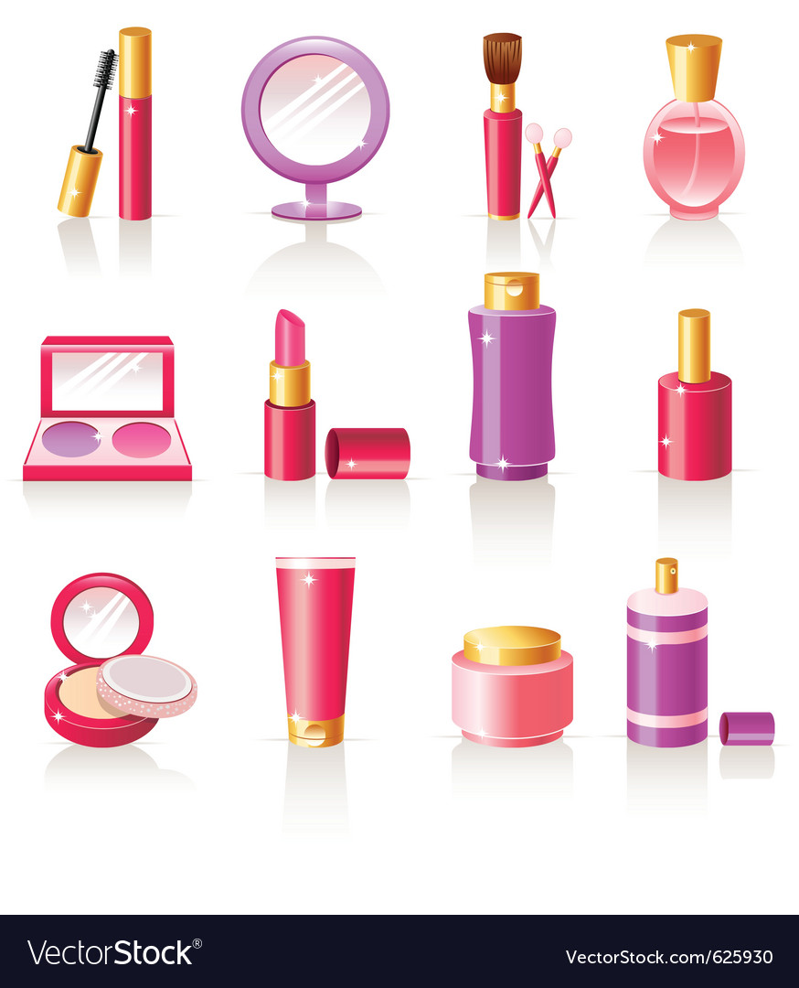 Cosmetic icons vector | Price: 1 Credit (USD $1)