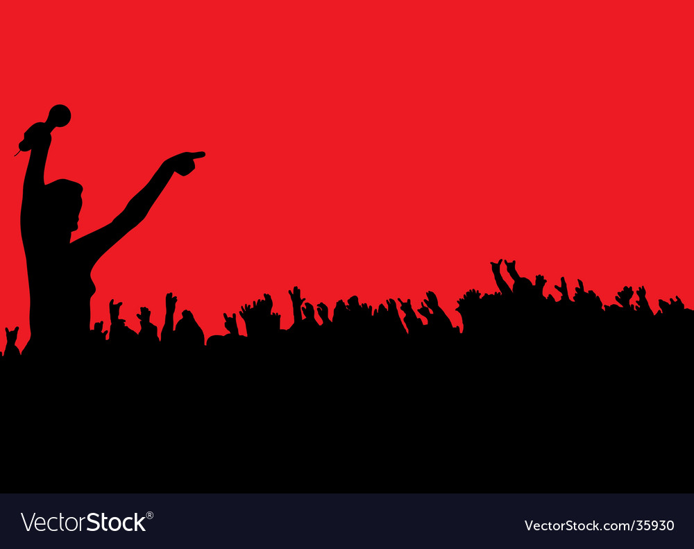 Female concert vector | Price: 1 Credit (USD $1)