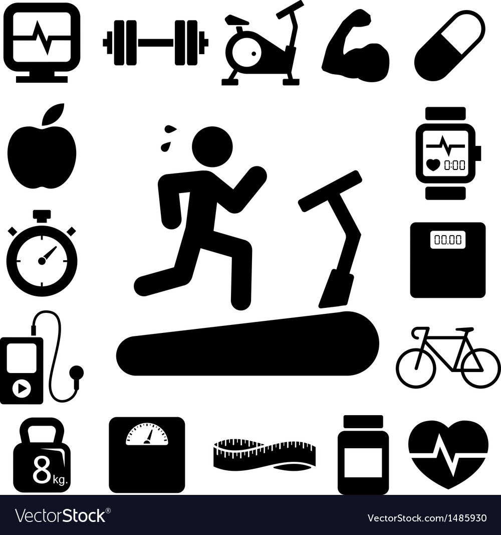 Fitness and health icons eps10 vector | Price: 1 Credit (USD $1)