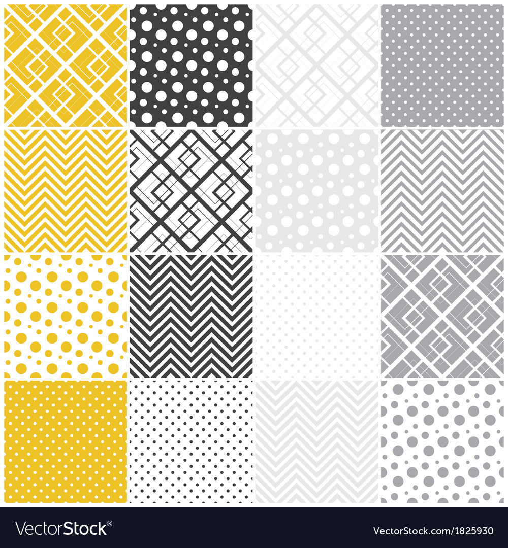 Geometric seamless patterns vector | Price: 1 Credit (USD $1)