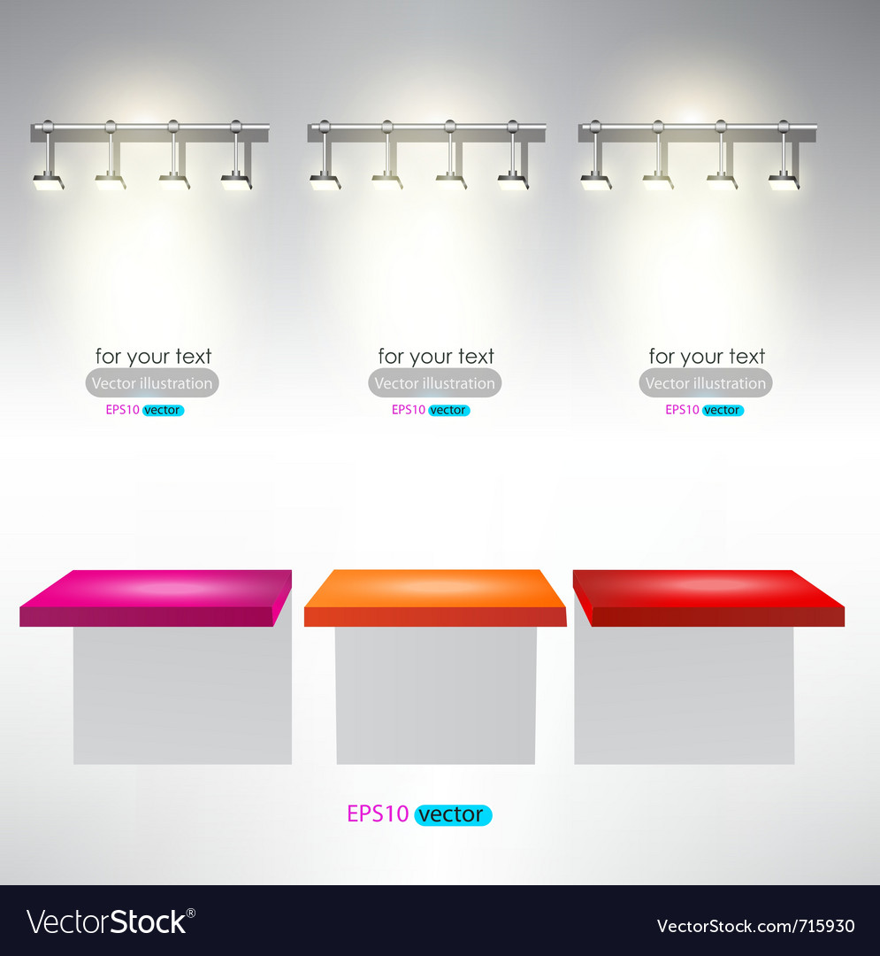 Interior for advertise products with lighting vector | Price: 1 Credit (USD $1)