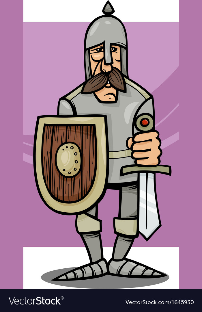 Knight in armor cartoon vector | Price: 1 Credit (USD $1)