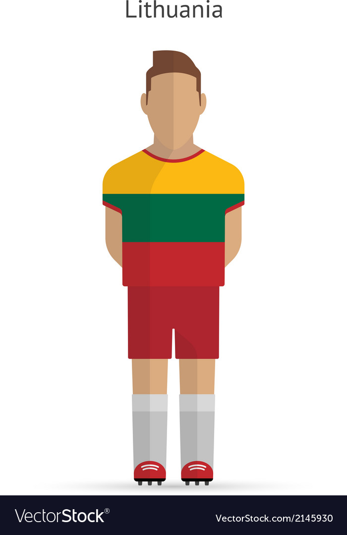 Lithuania football player soccer uniform vector | Price: 1 Credit (USD $1)