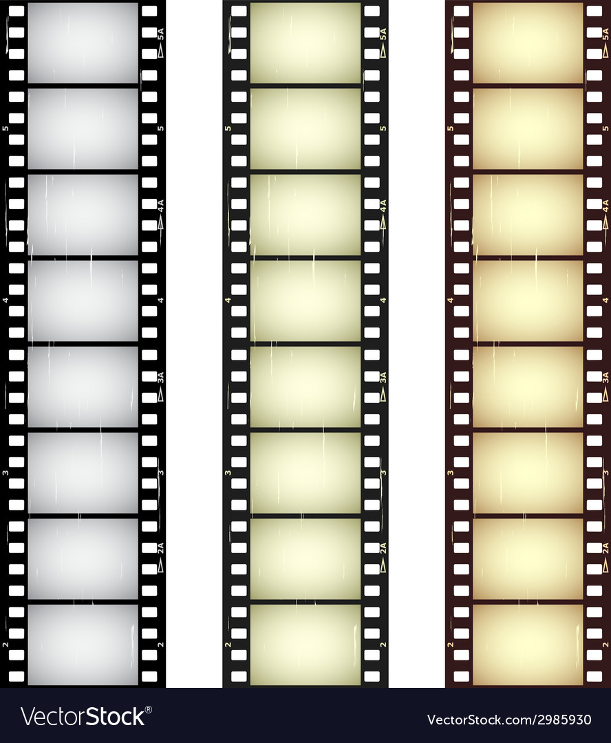 Scratched seamless film strips vector | Price: 1 Credit (USD $1)