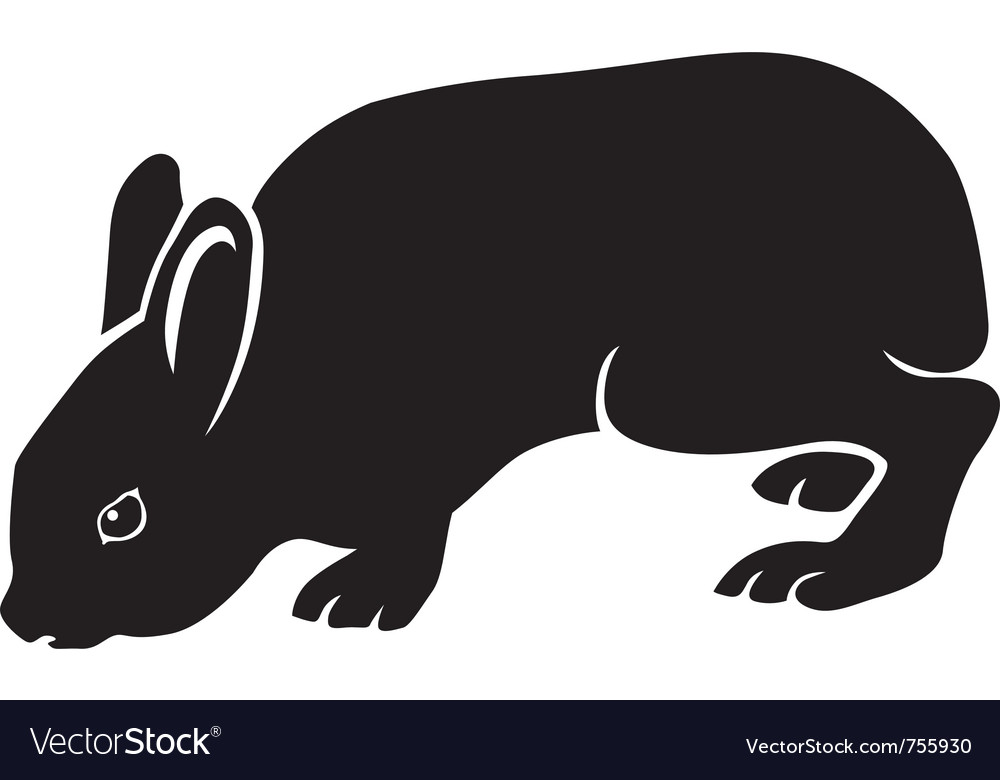 Silhouette of hare vector | Price: 1 Credit (USD $1)